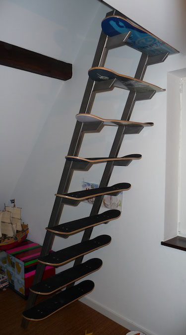 Skateboard Deck Staircase