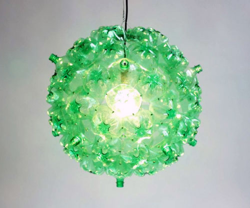 Upcycled Two Liter Soda Bottle Chandelier
