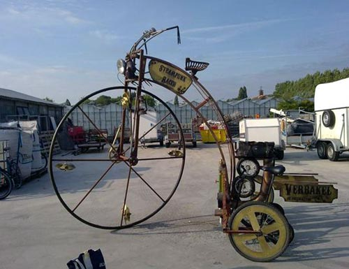 Steampunk High-Wheeler Tricycle