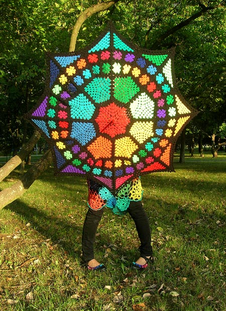 Granny Square Umbrella