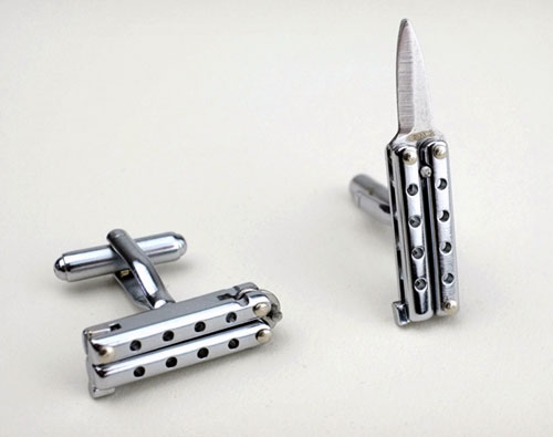Butterfly Knife Cufflinks