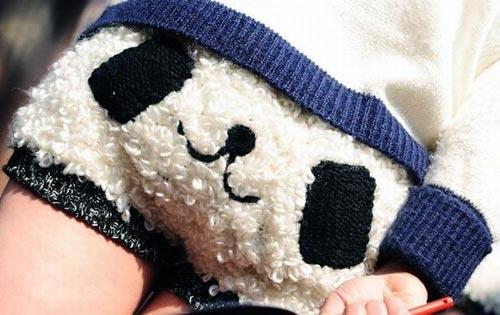 Panda Face Shorts