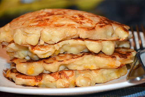 Macaroni And Cheese Pancakes