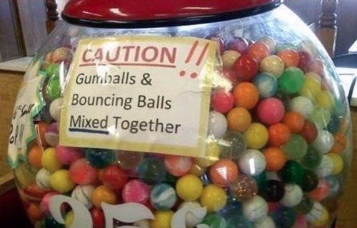 Gumball Machine Warning