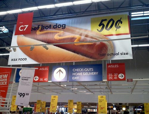 Not Actual Size Hot Dogs