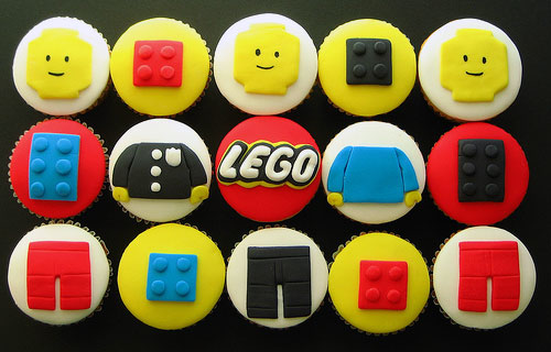 Lego Man Cupcakes