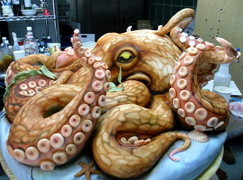 Giant Octopus Cake Sculpture