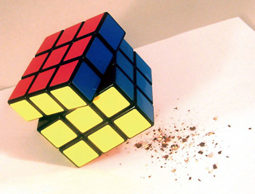 Rubiks Cube Pepper Mill