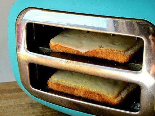Sideways Toaster Cheese Melt