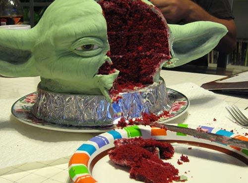 Yoda Head Cake