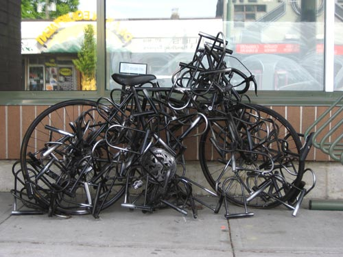 Bike Covered In Dozens Of Locks