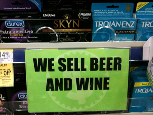 Product Matching Condoms With Beer and Wine