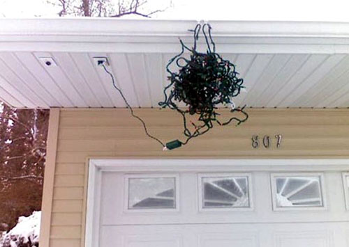 How To Hang Tangled Christmas Lights