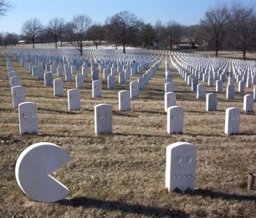 Pac-Man Cemetery Headstones