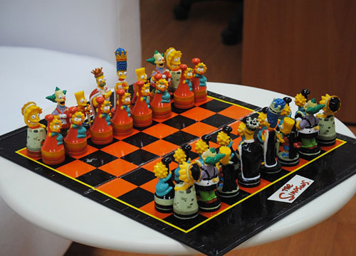 Simpsons Chess Board