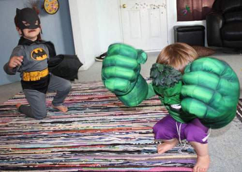 Batman and Hulk Costumes
