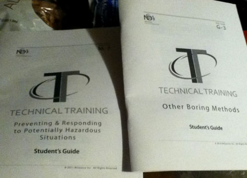 Student Guide For Technical Training And Boring Methods