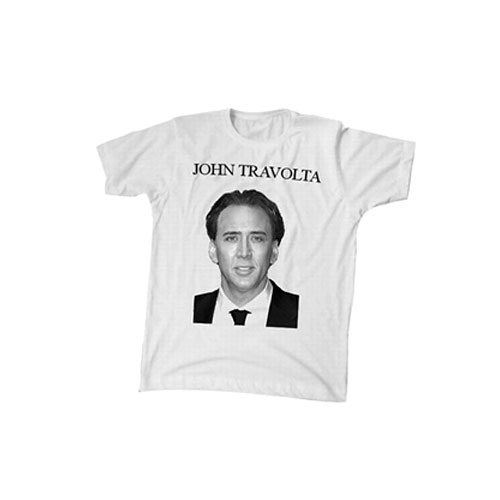 Nicolas Cage Face Off Portrait T-Shirt