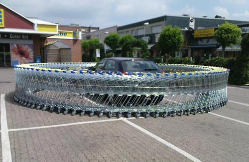 Parking Lot Shopping Cart Prank