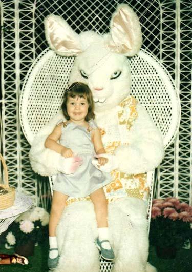 Santa-Style Easter Bunny Phhoto