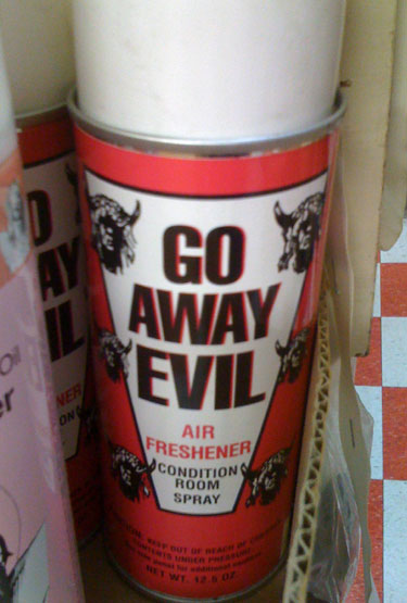 Go Away Evil Air Freshener