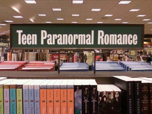 Teen Paranormal Romance Book Section
