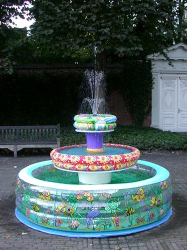 Kiddie Pool Fountain