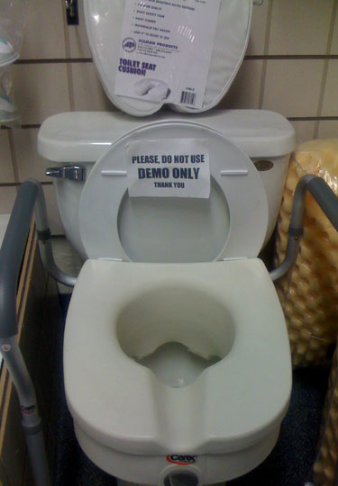 Floor Model Toilet Seat, Do Not Use