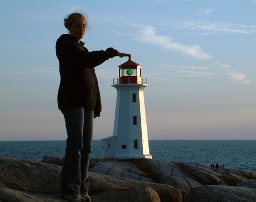 Touching The Top Of A Lighthouse | Perspective Photography