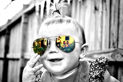 Selective Color Baby Photography