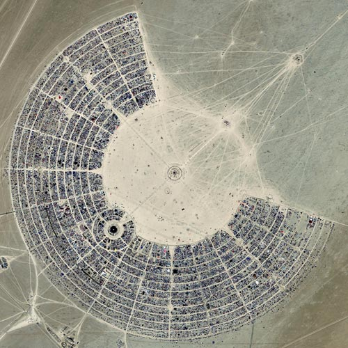 Burning Man Aerial Photo