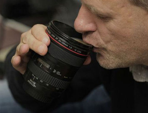 Zoom Lens Coffee Cup