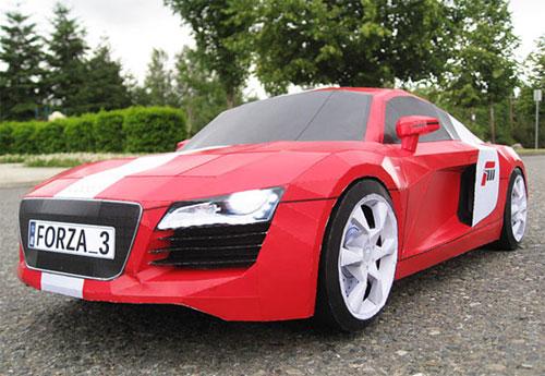 Forza 3 Audi R8 Paper Sculpture