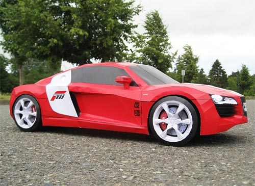 Audi R8 Papercraft