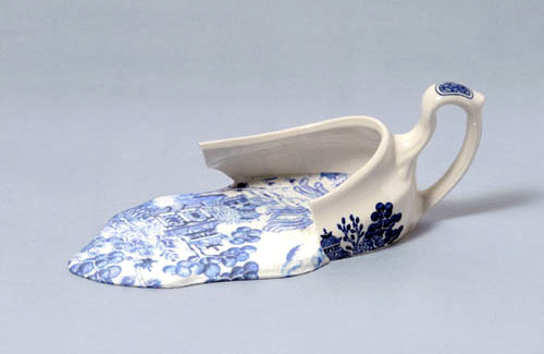 Broken Porcelain Gravy Boat Sculpture