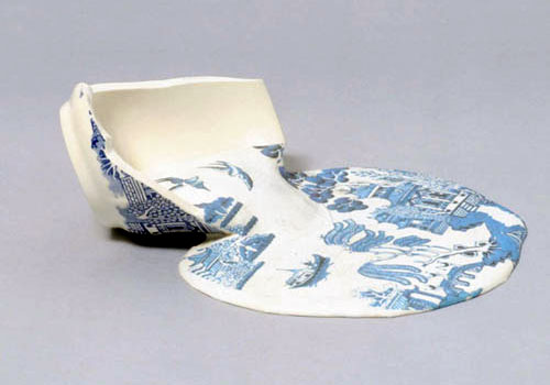 Broken Porcelain Cup Sculpture