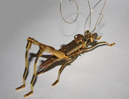 Grasshopper Bullet Sculpture