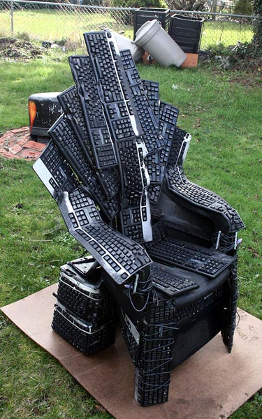Chair Made From Keyboards