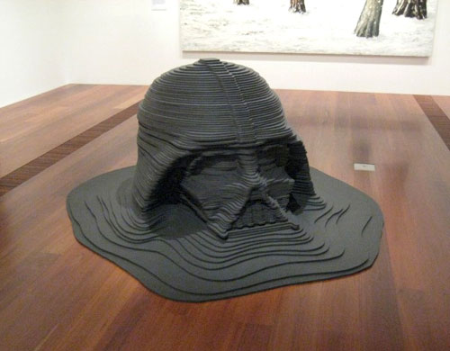 Melting Darth Vader Sculpture