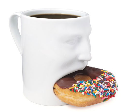 Mug With Donut Mouth