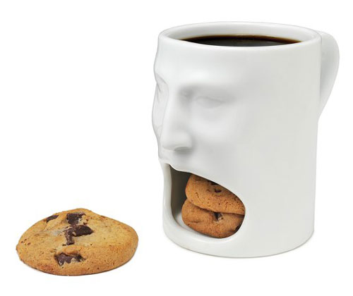 Mug With Cookie Mouth