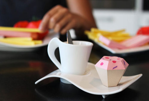 Paper Cupcake Sculpture