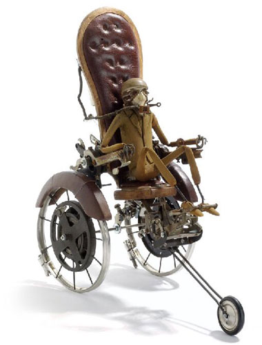 Steampunk Wheelchair Figurines