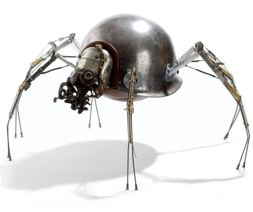 Steampunk Robot Spider Sculpture