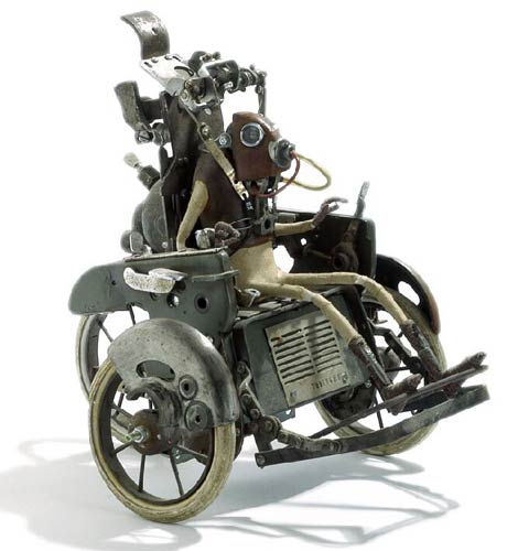 Steampunk Wheelchair Sculpture