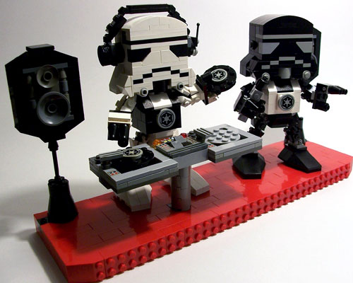 Lego Stormtrooper DJs