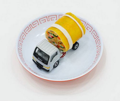 Tomica Truck Sculpture