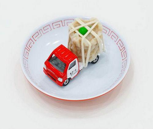 Tomica Truck Sushi Sculpture