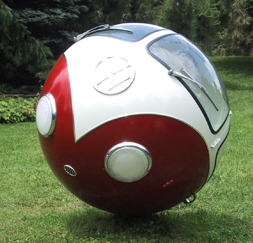 Volkswagen Bus Ball Sculpture