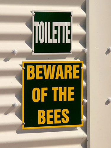Beware of the Bees Sign